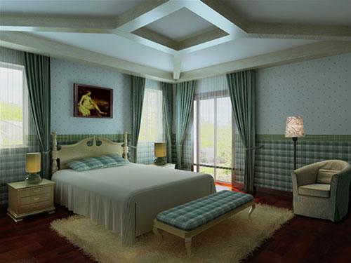 二居室 106平米 客厅装修效果图 装修预算中卧