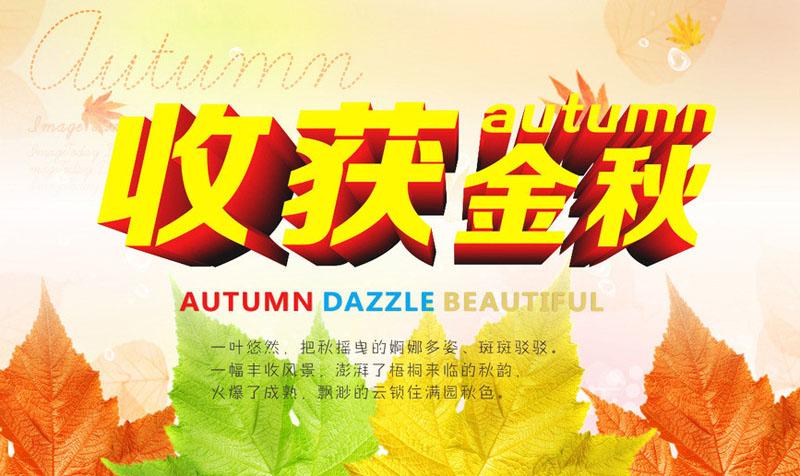 秋季盛惠秋季促销海报秋天吊旗秋季展板秋天促销广告设计模板矢量素材