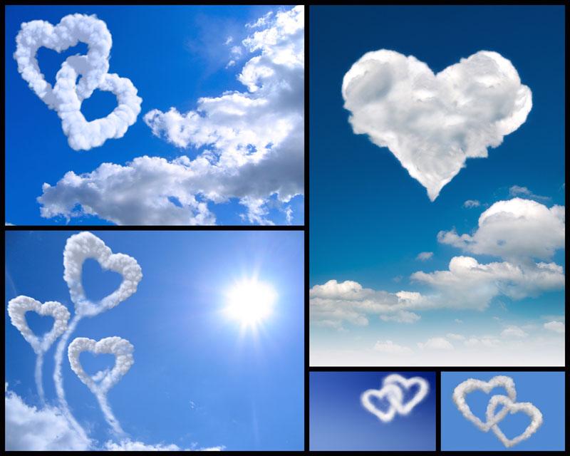 爱心白云自然景观高清图片 爱图网设计图片素