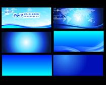 背景 素材 设计/高清蓝色会议背景设计矢量素材
