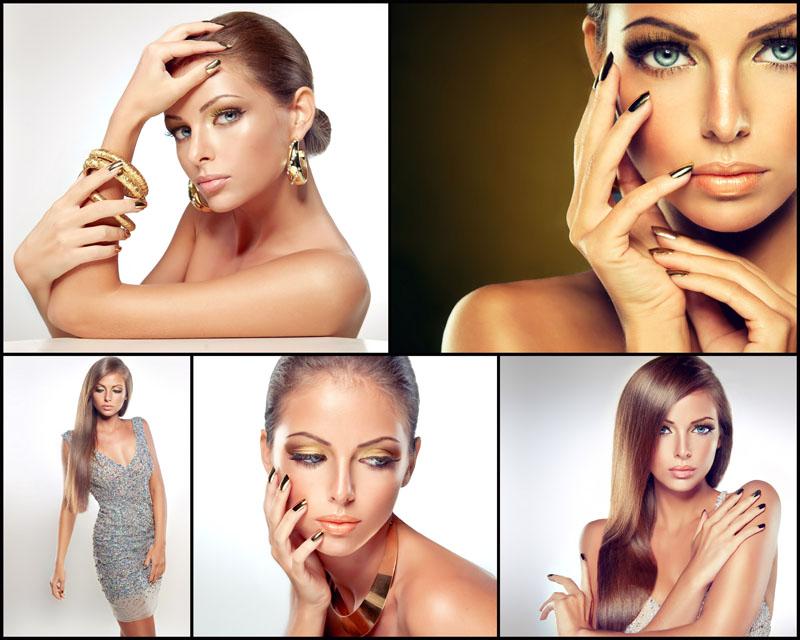 化妆女性摄影高清图片