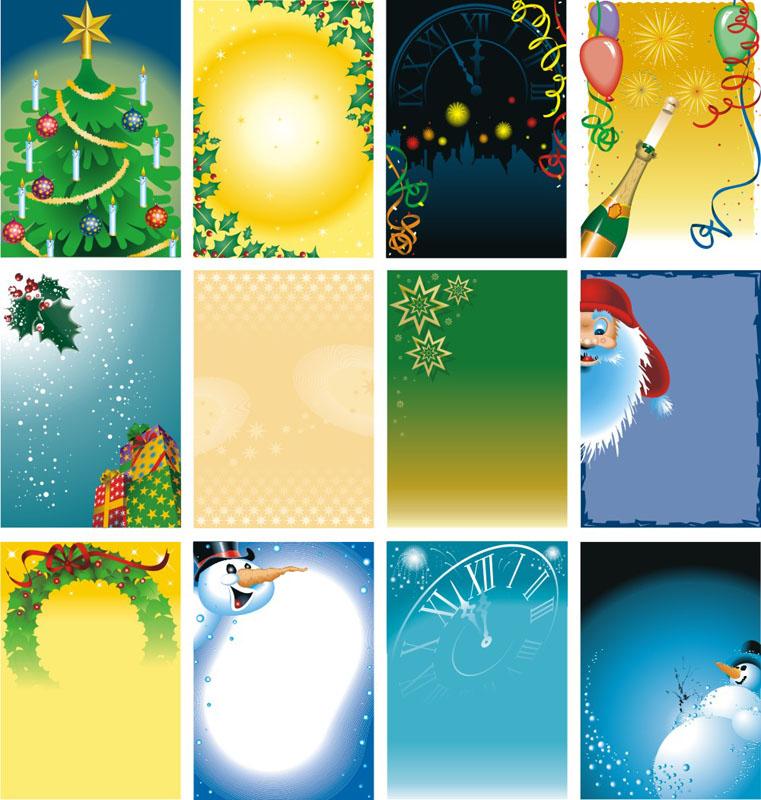 圣诞双节同庆模板矢量素材 圣诞豪礼节日模板矢量素材 缤纷圣诞节模板