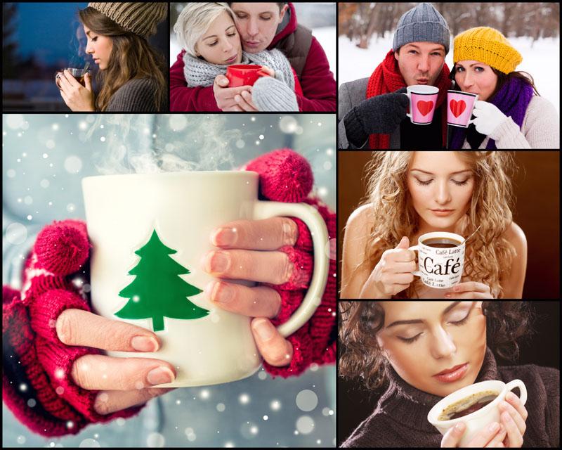 人物 热咖啡/喝热咖啡的人物高清图片