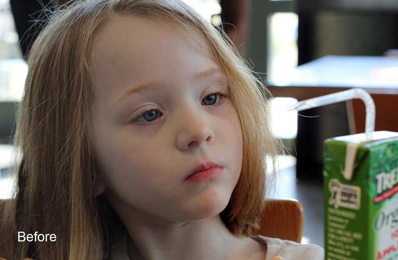 儿童照片肤色美化PS调色动作