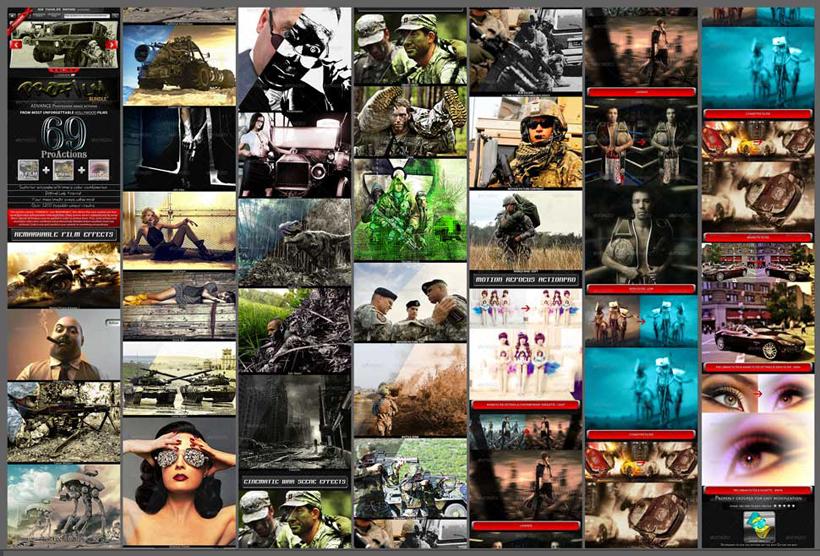 照片电影特效效果PS调色动作 爱图网设计图