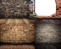背景/墙壁与木板背景高清图片