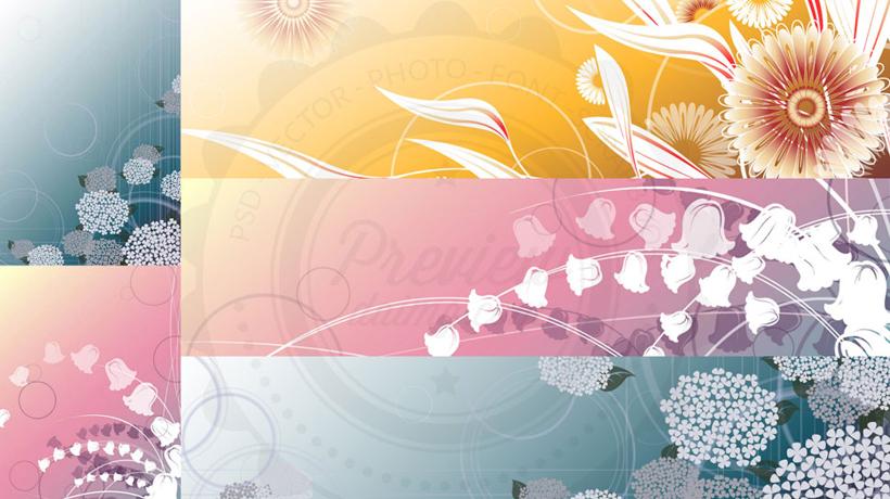花朵花卉背景矢量素材