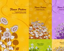 背景 素材 设计/素描向日葵花卉背景设计矢量素材