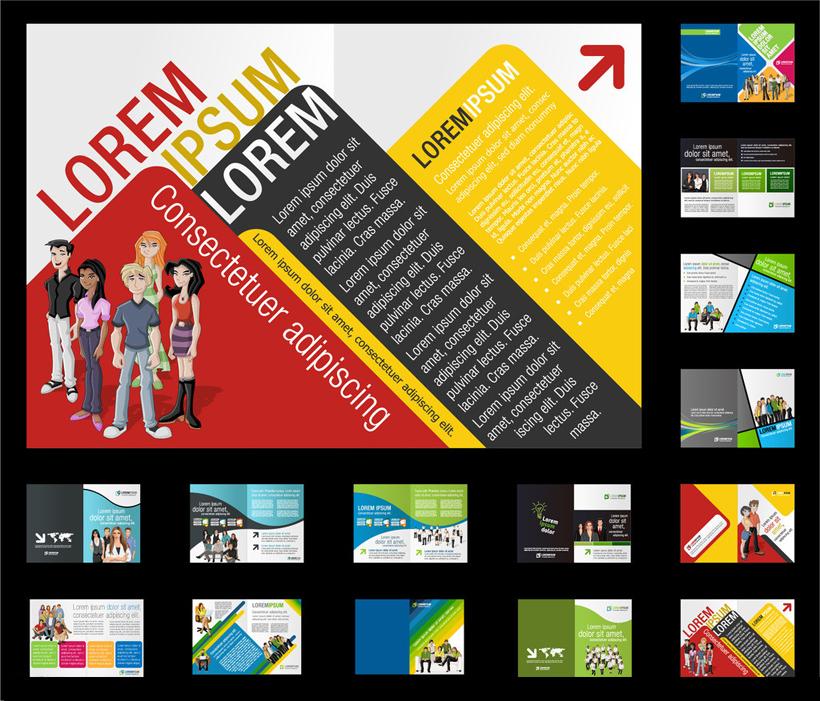 书籍排版矢量排版商务画册排版合影国外板式板式设计国外板式设计外文图片