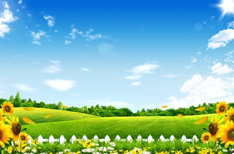 草原自然风景psd素材