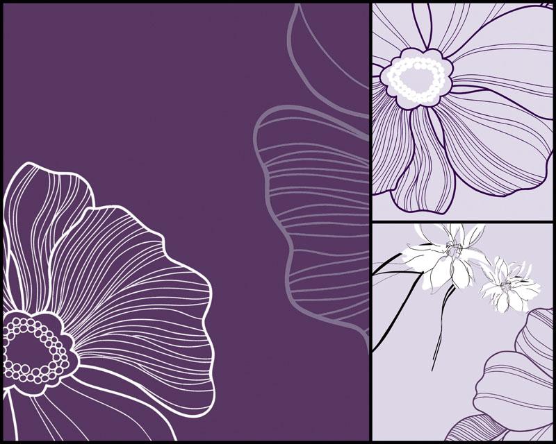 花朵无框画高清图片