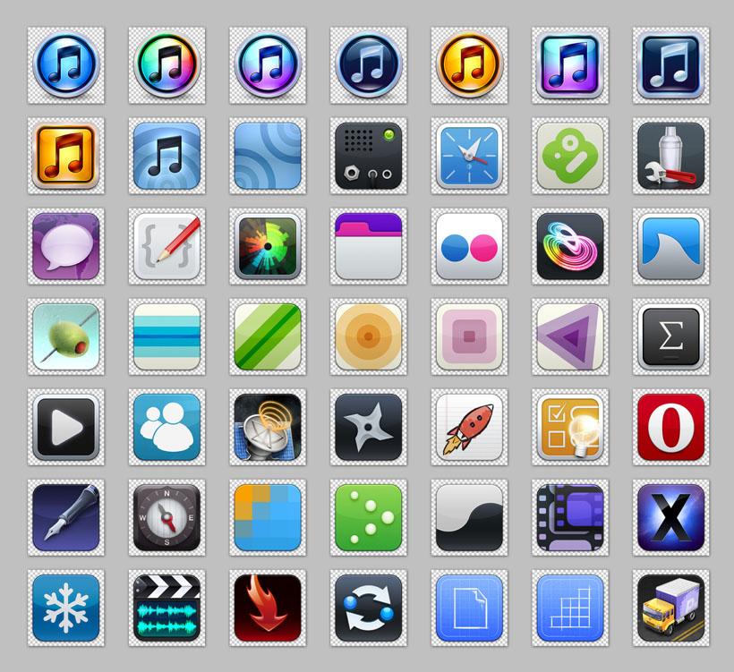 常用苹果手机png 图标