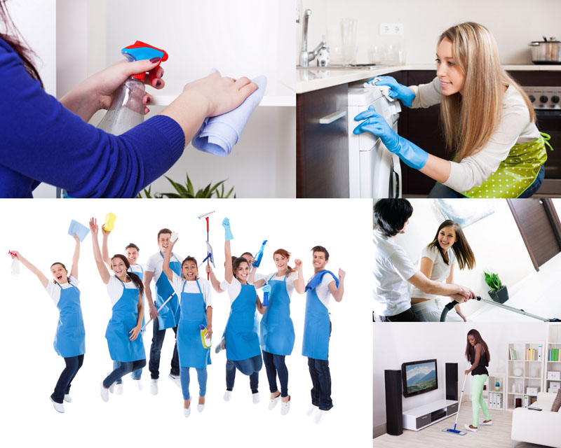 素材 打扫/打扫房子的人物摄影高清图片