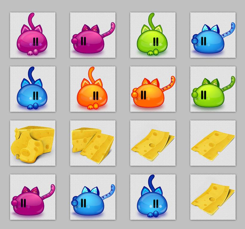 动物与植物png图标 木质风格手机主题png图标 黄色圆形软件标志png