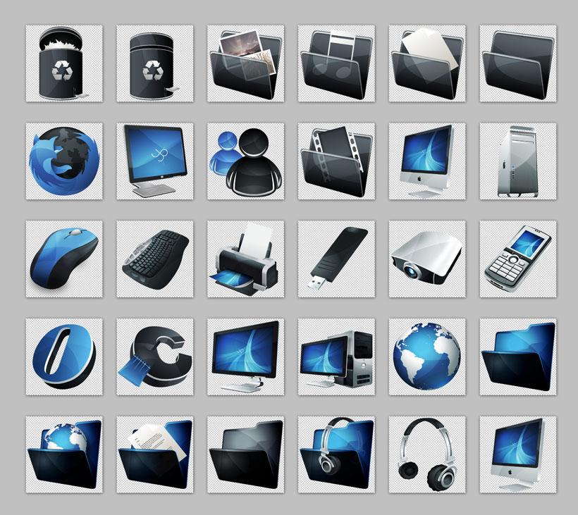 质感win8系统文件夹png图标 win7电脑桌面png图标 win7系统文件夹png