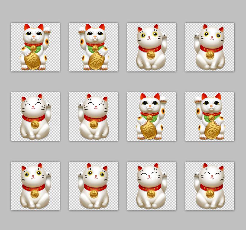 高清可爱招财猫png图标 - 爱图网设计图片素材下载