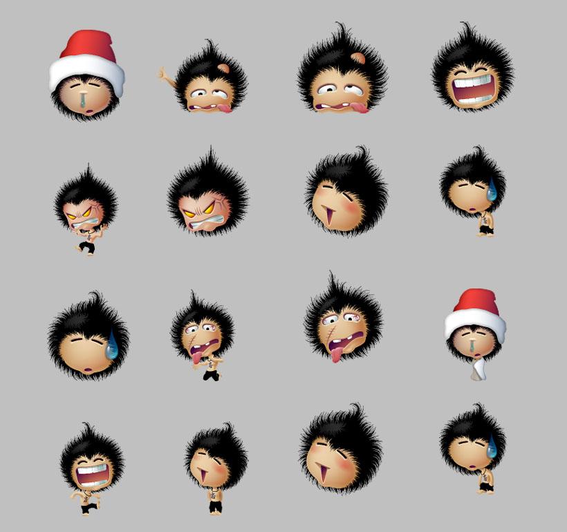 夸张的聊天图片PNG表情-爱图网设计图片素材的表情包无奈图标微笑图片