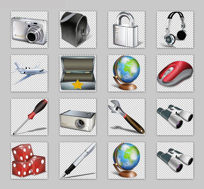 3d日常用品png图标 - 爱图网设计图片素材下载