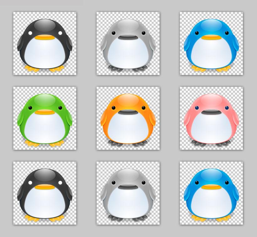 qq企鹅聊天表情png图标 情人节礼物系列png图标 卡通小人物与小动物