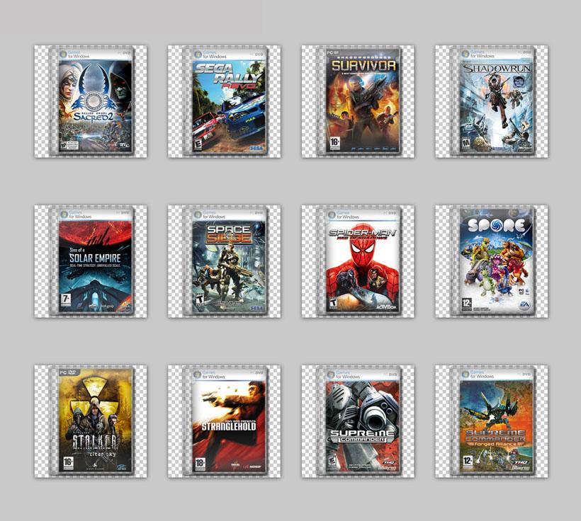 经典游戏封面设计png图标 cs游戏封面png图标 游戏人物dvd封面png图标