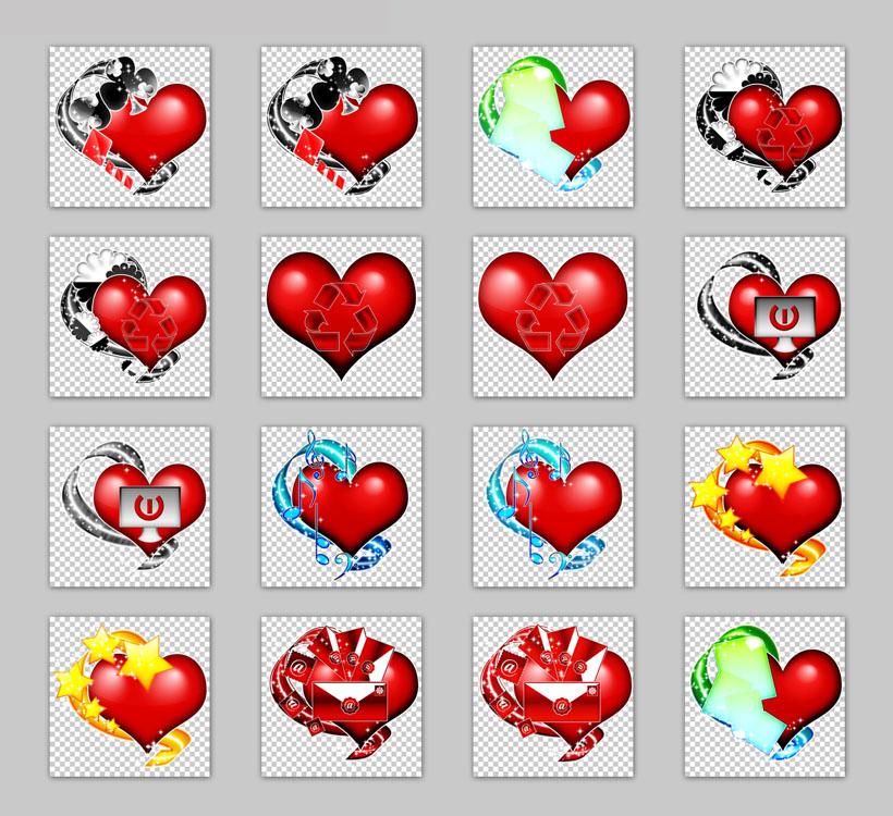 心形png图标 红心手绘风格png图标 古典唱片机与电视机png图标 铅笔画