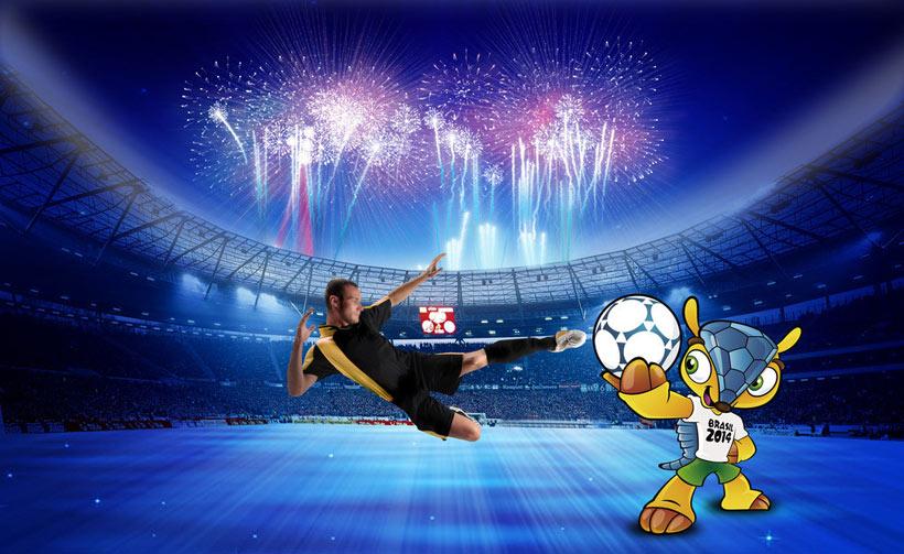 巴西世界杯海报 背景设计 爱图网设计图片