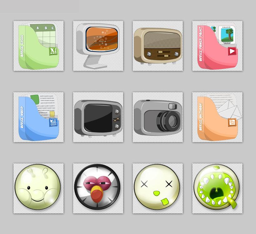 卡通小熊png图标 卡通猫系统png图标 粉红色的卡通小人png图标 超可爱