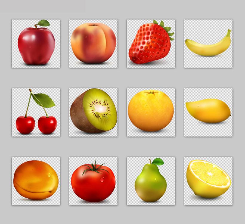 高清苹果和芒果png图标