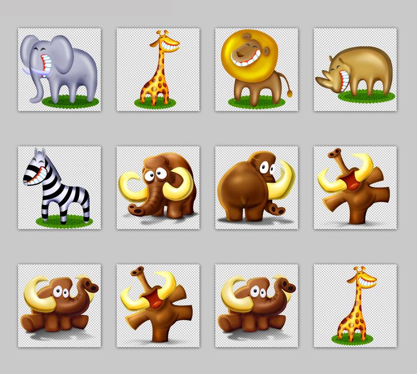 非洲的动物png图标