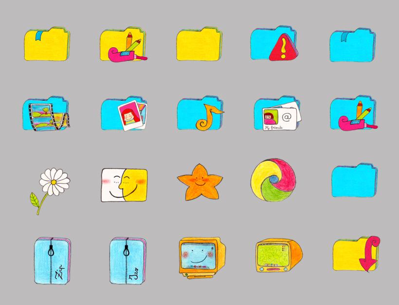 苹果牌电视机png图标 可爱的星星png图标 蓝色的铃铛png图标 蜡烛和