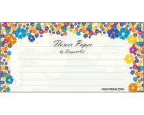 素材 花朵/漂亮的花朵信纸模板矢量素材