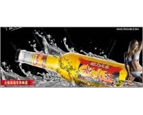 素材/动力火车苏打酒广告设计素材