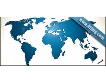 eps格式 彩色 世界地图 黑白