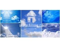 素材 设计 天国的阶梯/5张天国的阶梯高清图片