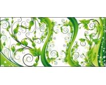 素材 装饰/绿色植物装饰矢量素材