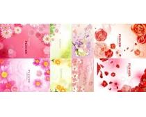 素材/春天粉色花朵背景矢量素材