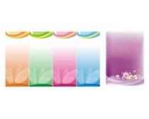 背景 素材 矢量/粉色矢量展板X展架背景矢量素材