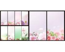 素材 设计/粉红色花纹背景设计矢量素材