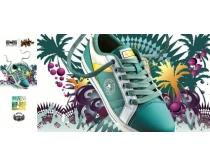 素材 鞋业/匡威之星鞋业展板广告PSD素材