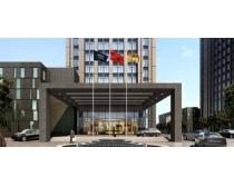 素材/会议酒店建筑PSD素材