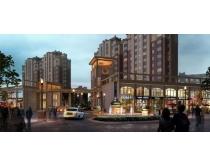 素材/小区大门建筑景观PSD素材