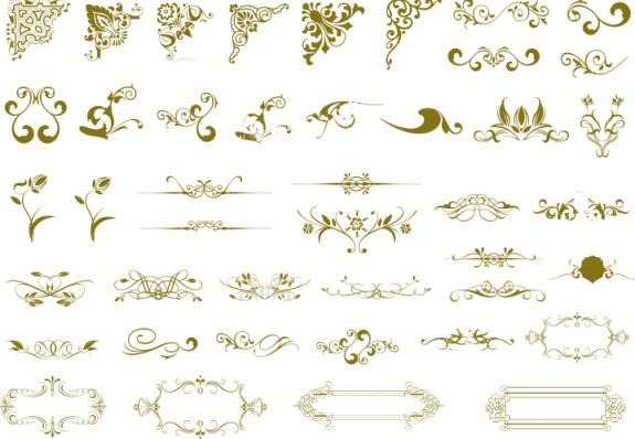 cdr格式古典花纹矢量素材&nbsp