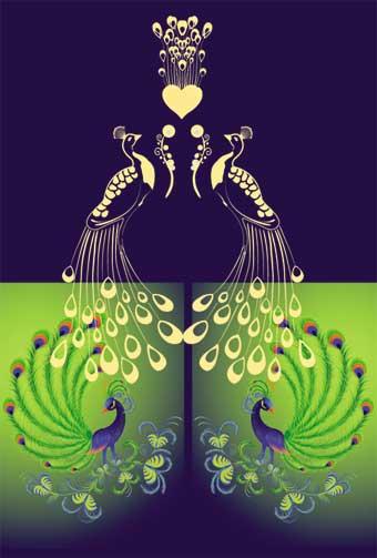 可爱飞鸟简笔画彩色