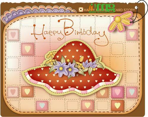 可爱生日贺卡模板素材12款 爱图网设计图片素材下载