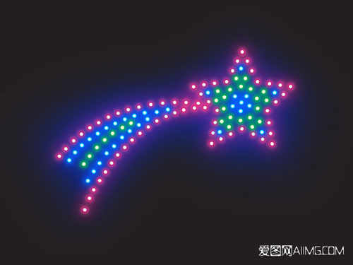 Christmas Shooting Star Lights