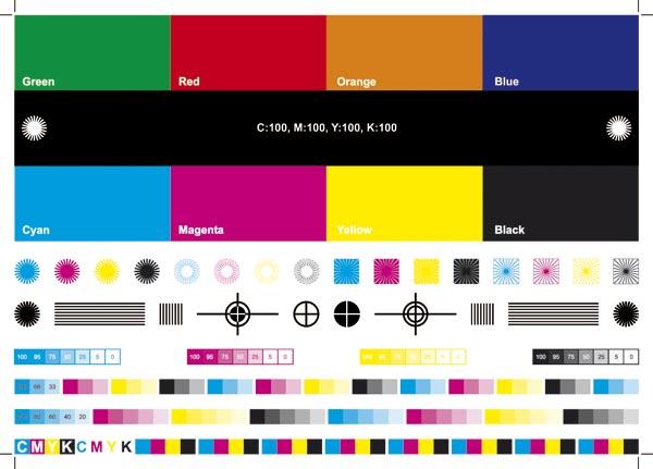 rgb-cmyk色彩指标矢量素材