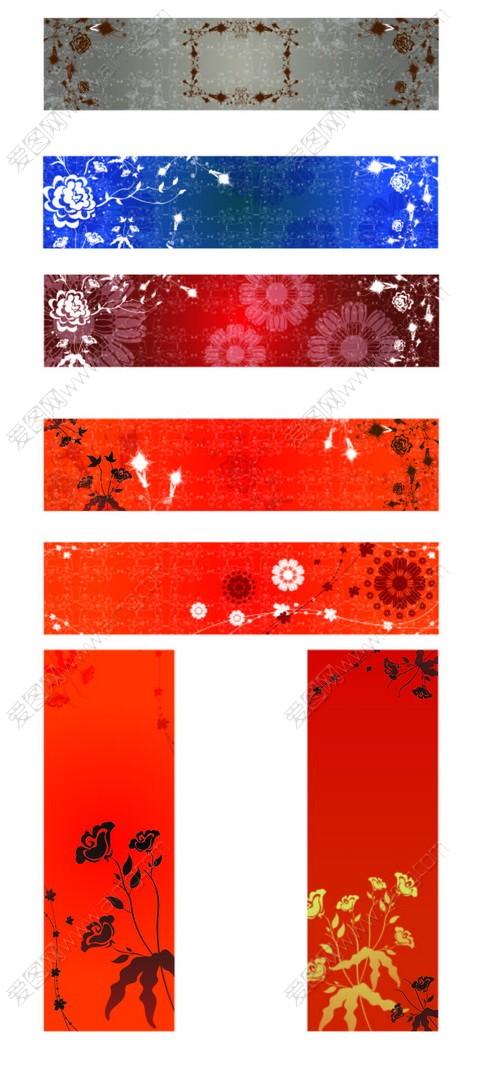 暗红色欧式背景图