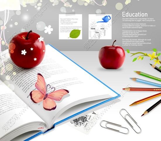 桌面书签09韩国设计元素苹果