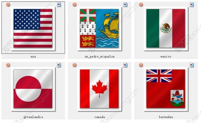 世界各国国旗图标素材