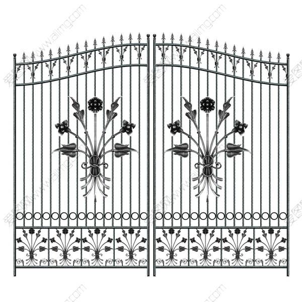 欧式建筑素材欧式铁艺门铁门铁门花纹门的p